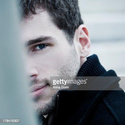A black man with blue eyes