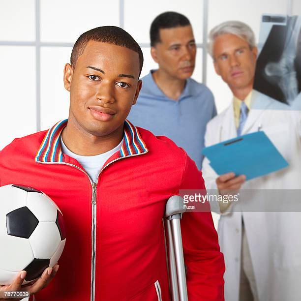 Young Man with Sports Injury