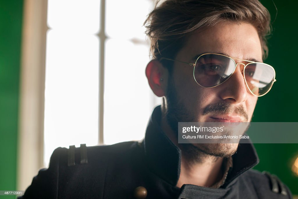 Young man with sunglasses : Stock Photo