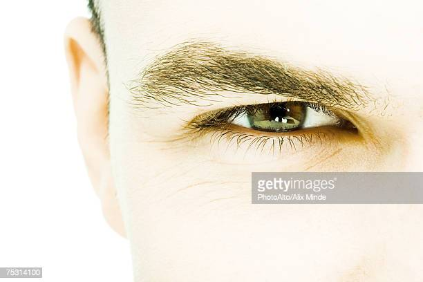 Young man's eye, extreme close-up