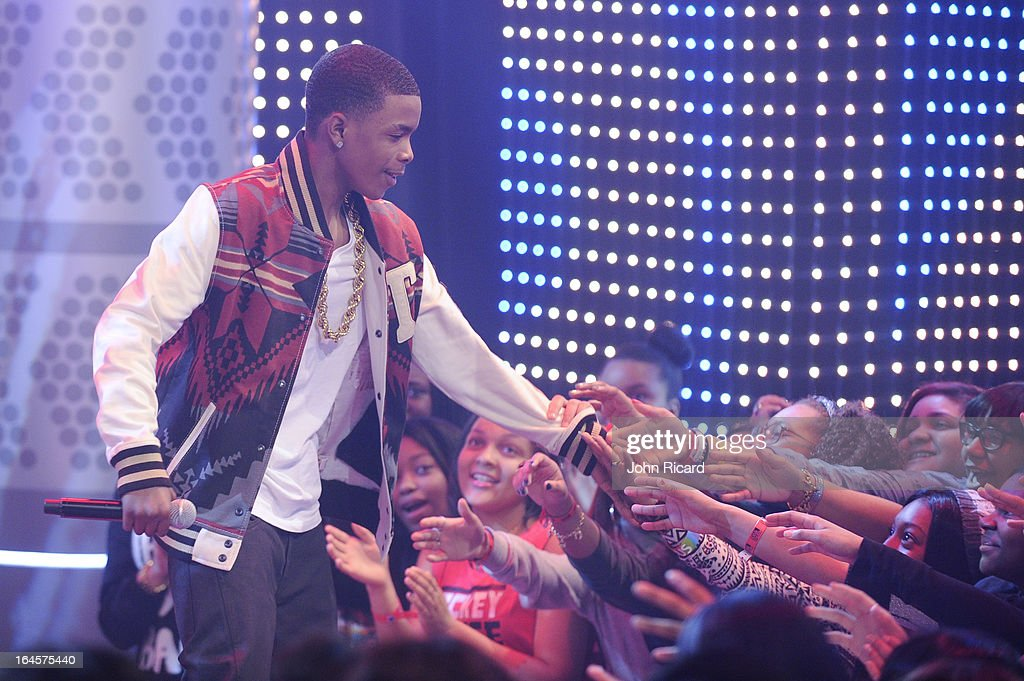 Young Marqus and Jacob Latimore visit BET's '106 & Park' at BET Studios on March 11, 2013 in New York City.