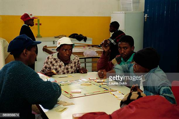 Young Men Playing Monopoly