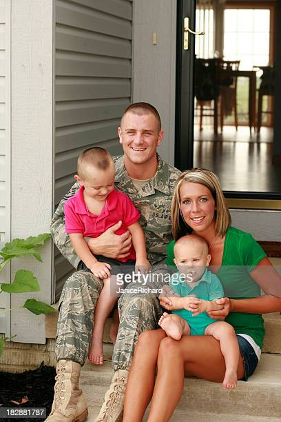 Young Military Family of Four