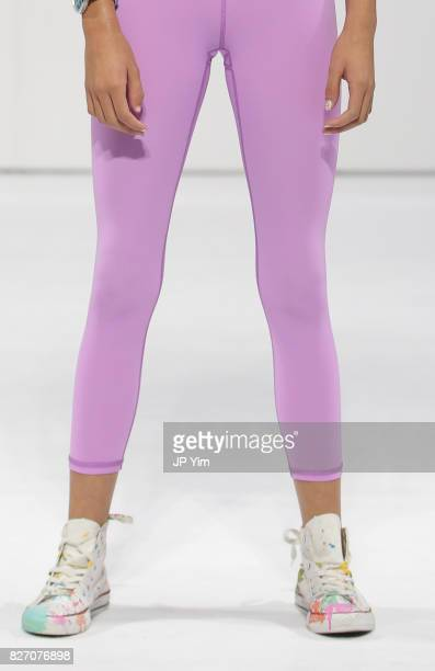 A young model walks the runway for MOD Activewear collection during petitePARADE at Children's Club at Jacob Javitz Center on August 6 2017 in New...