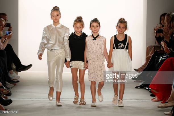 Young models walk the runway at the Maisonnoee show during the MercedesBenz Fashion Week Berlin Spring/Summer 2018 at Kaufhaus Jandorf on July 5 2017...