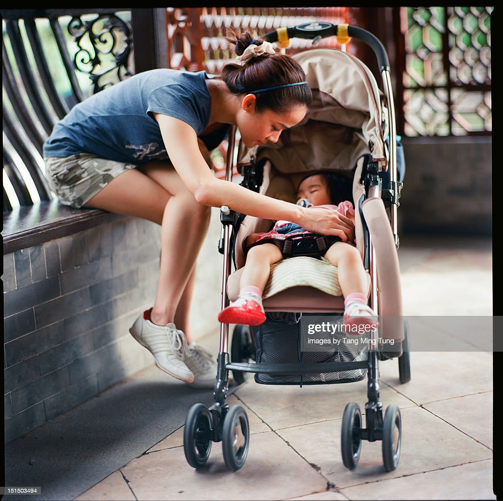 Young mom with baby : Stock Photo