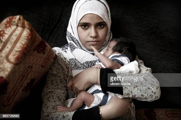 A young mother fled to the Bekaa Valley in order to get away from the violence in Syria