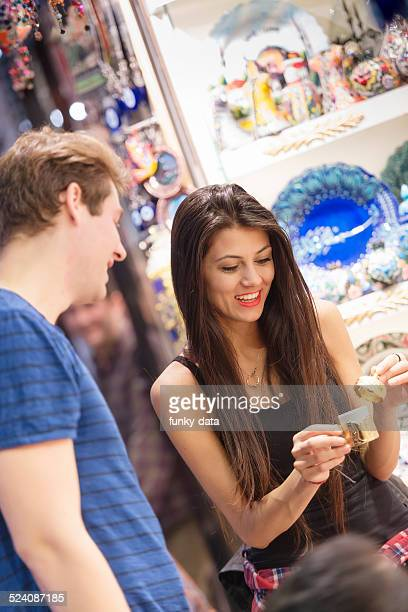 Young multinational couple in Grand Bazaar in Istanbul