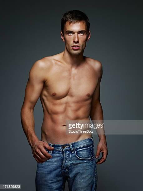 Muskuläre junger Mann