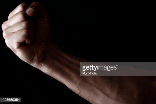 Young muscular man,arm close-up : Stock Photo