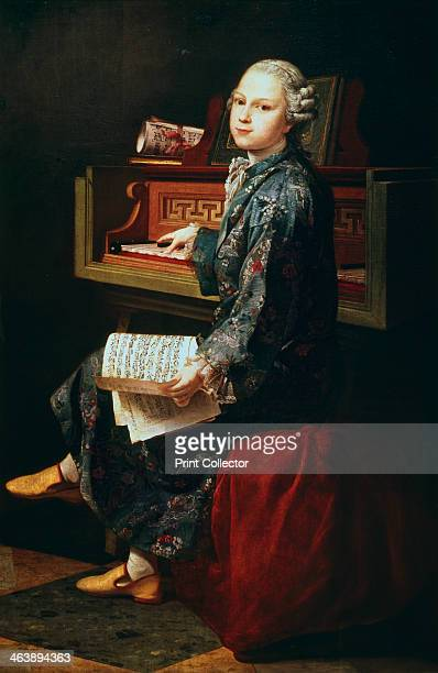 'Young Musician at the Harpsicord' Thought by some to be Wolfgang Amadeus Mozart