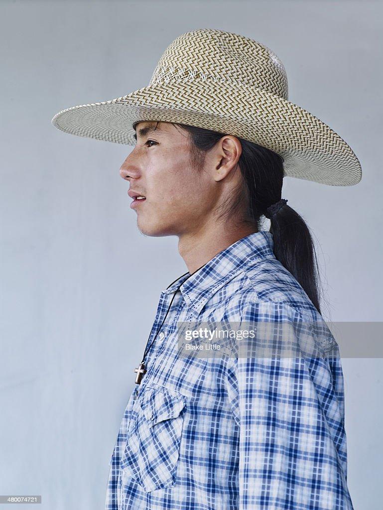 Young Native Indian Cowboy