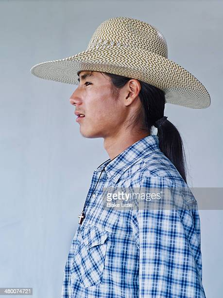 Young Native Indian Cowboy