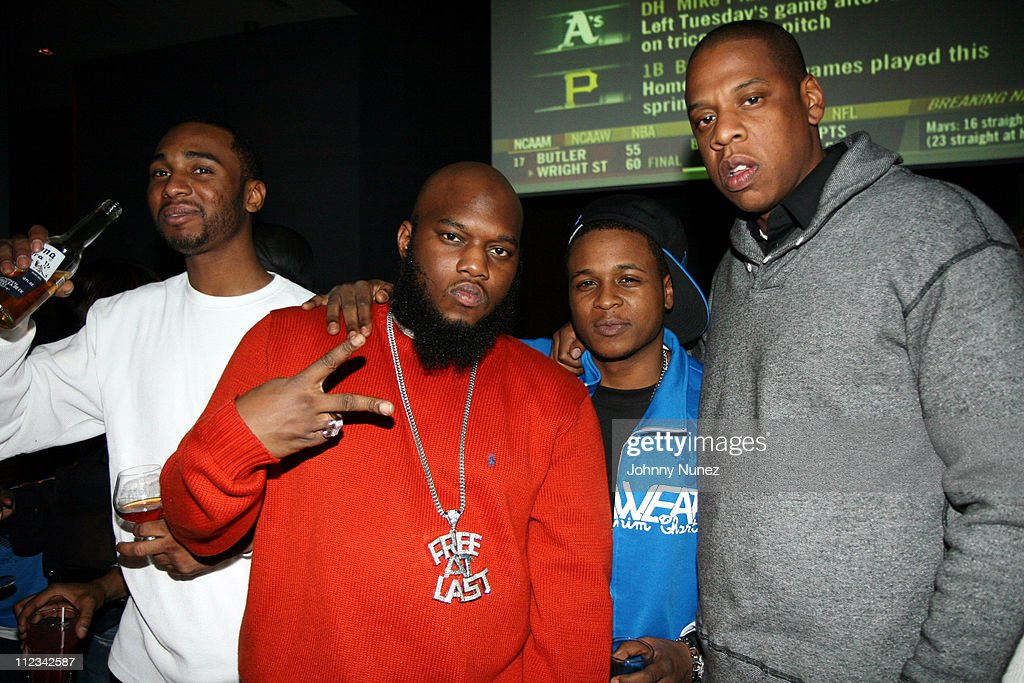 Young Neef, Freeway, Young Chris and <a gi-track='captionPersonalityLinkClicked' href=/galleries/search?phrase=Jay-Z&family=editorial&specificpeople=201664 ng-click='$event.stopPropagation()'>Jay-Z</a> during Beanie Sigel's Birthday Party - March 6, 2007 at 40-40 Club in New York City, New York, United States.
