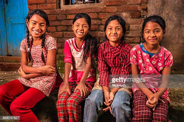 Young Nepali girls in Bhaktapur