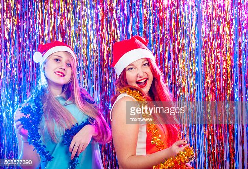 Young nice girls have fun : Stockfoto