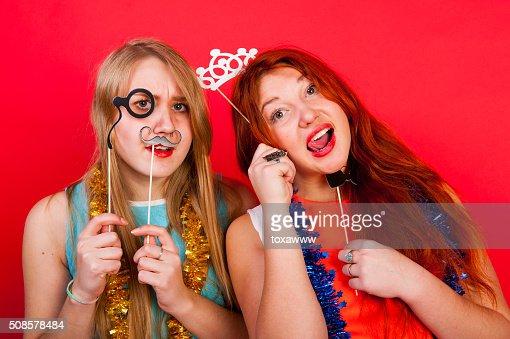 Junge schöne Mädchen Spaß haben : Stock-Foto