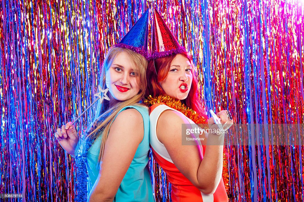 Young nice girls have fun : Bildbanksbilder