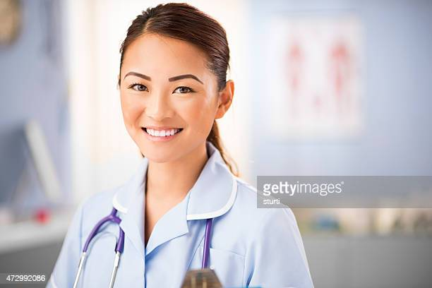 young nurse portrait in the clinic