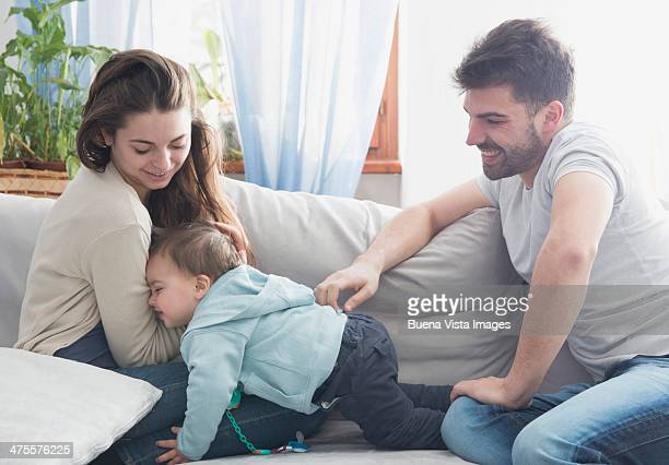 Young parents with child