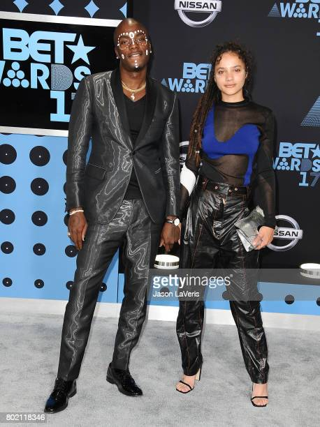Young Paris and Sasha Lane attend the 2017 BET Awards at Microsoft Theater on June 25 2017 in Los Angeles California