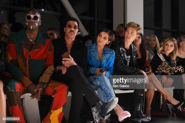 Young Paris Lionel Richie Isabela Moner Austin Butler Vanessa Hudgens and Ashley Benson attend the Jeremy Scott Fashion Show during New York Fashion...