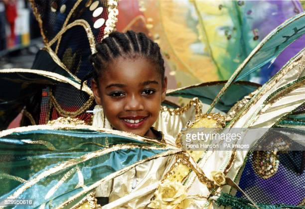 A young participant at this year's Notting Hill Carnival in London