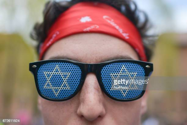 A young participant from Canada inside the former German Nazi Death Camp AuschwitzBirkenau during the annual March of the Living Jewish people from...