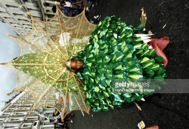 A young participant on Children's Day at this year's Notting Hill Carnival in London