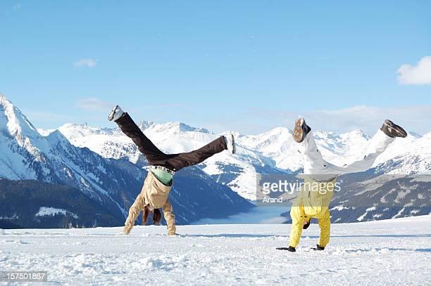 young people at ski resort
