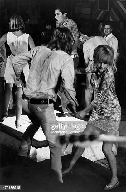'Young people dancing on the dancefloor of the club Piper in Viareggio Viareggio August 1966 '