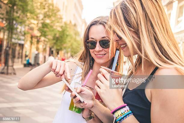 Young people enjoying Bubble Tea