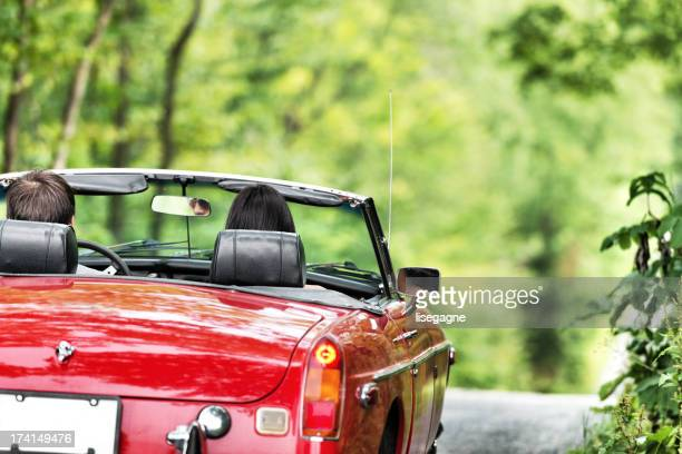 Young people in a cabriolet