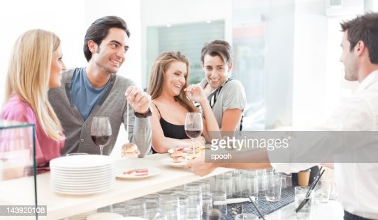 Young people in bar