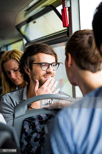 Young people in bus
