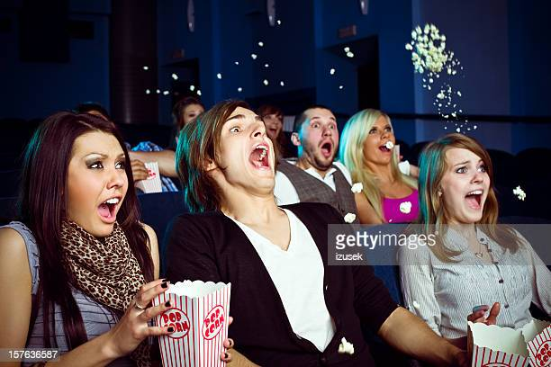 Young people in movie theater