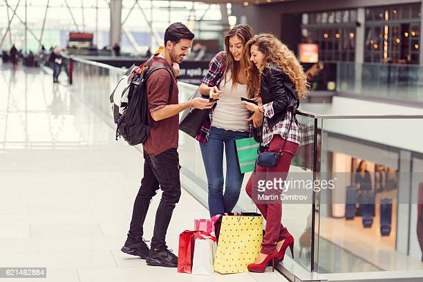 Young people in the shopping mall