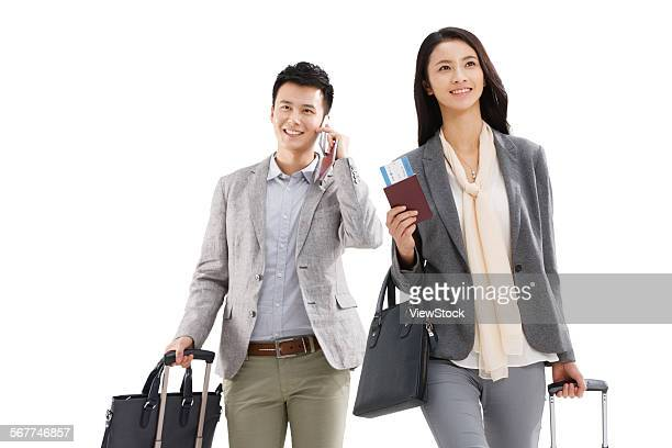 Young people of business travel