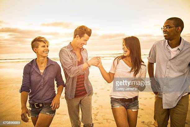 Young people on Mission Beach, San Diego, California, USA