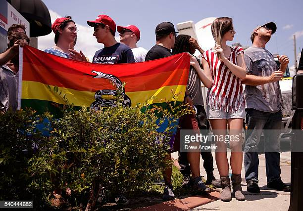 Young people some wearing Donald Trump attire wait for Milo Yiannopoulos a conservative columnist and internet personality to arrive for a press...