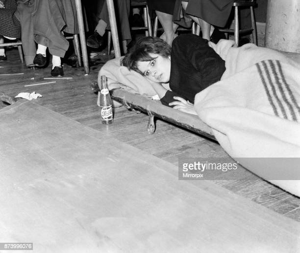 Young people taking part in a twisting dance competition Pictured Mary Moulds aged 17 of Harlow on a stretcher during one of the rest periods Mary...