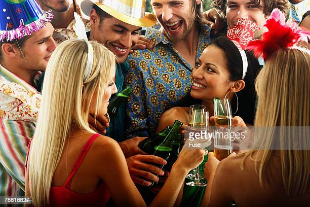 Young People Toasting at New Year Party