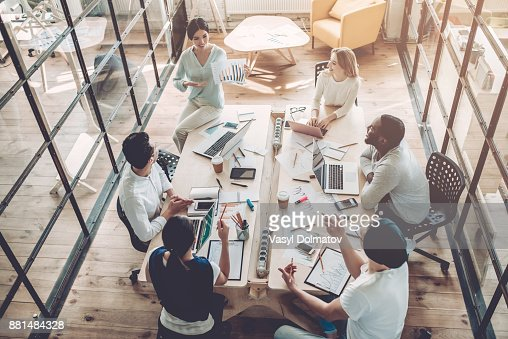 Young people work in modern office. : Stock Photo
