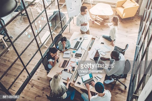 Young people work in modern office. : Foto de stock