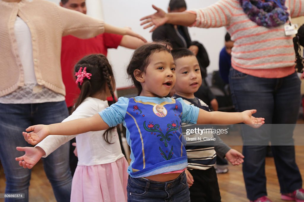 A young person from the Children of the Garden of Dreams Foundation participates in the Sesame Street Live Dance Class held at Ripley Greer Studios on February 10, 2016 in New York City.