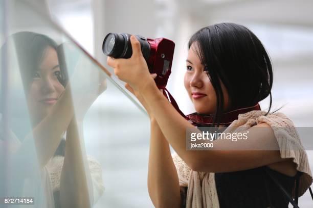 若い撮影フォトグラファー