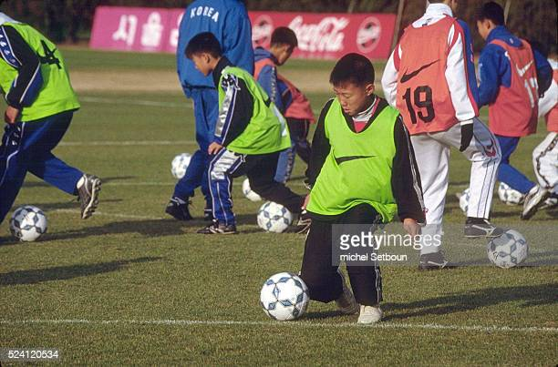 Young players are trained at a private soccer school The school is directed by the former Korean soccer star Cha Bumkun who played for German teams...