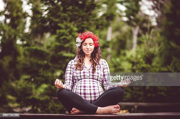 Young Pregnant Woman portrait Outdoors
