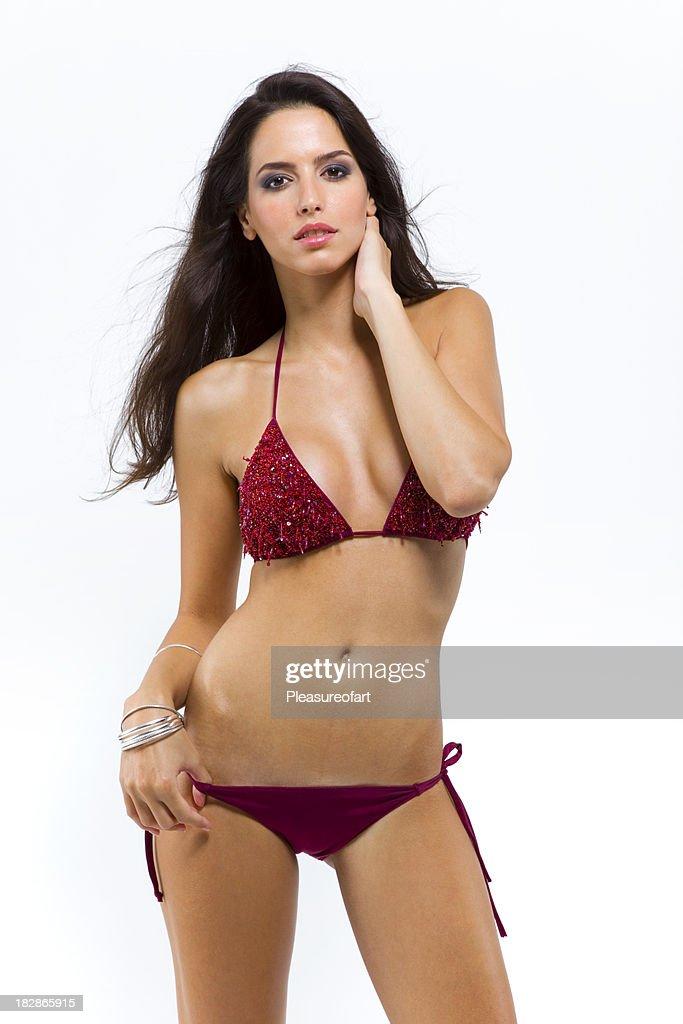 Young pretty lady in bikini
