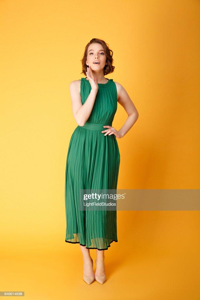 Mujer bonita vestidos